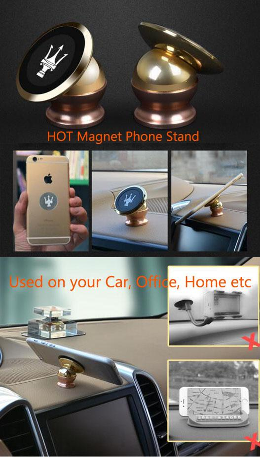 OEM Univesal Magnetic Mount Sticky Magnet Holder Stand for any mobile phone