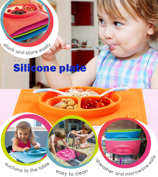 TOP quality new FDA silicone plate, factory price with various color