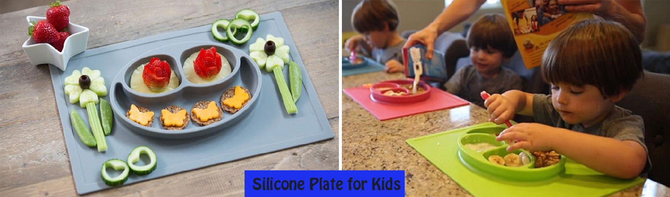 Children silicone plate