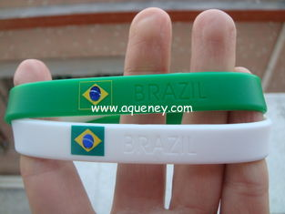 China Country Flag Friendship silicone Bracelet Wristband for Football Team Soccer Fans supplier