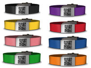 China Medical silicone qr bracelet /id bracelet /silicone wristbands with custom color logo factory