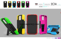 China Top quality PC+silicone T kickstand mobile phone case, protect your phone very well factory