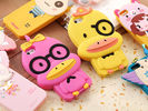 China Cute Duck shape mobile phone case for Iphone, Silicone phone case factory