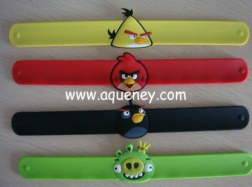 Hot selling Silicone Slap Wristband/Bracelets, low MOQ with factory price,custom color