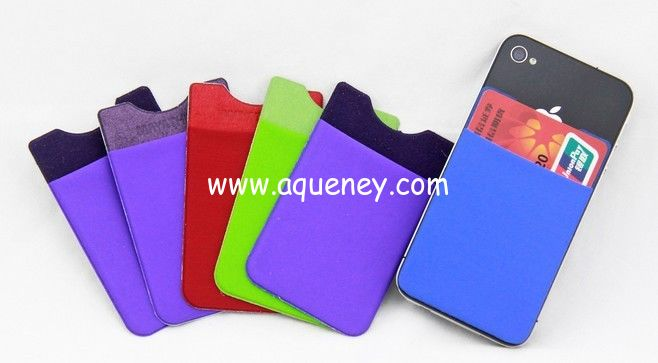 Cheap promotion gifts 3M Mini pocket for smart phone, mini smart wallet for mobile phone