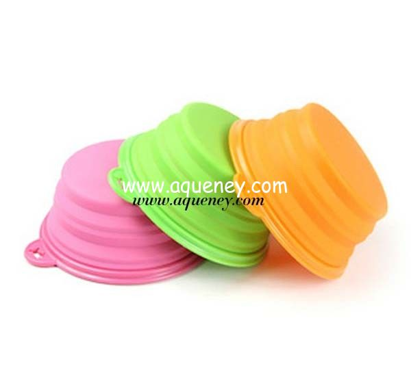 OEM Silicone Collapsible Bowl made of high quality food grade silicone