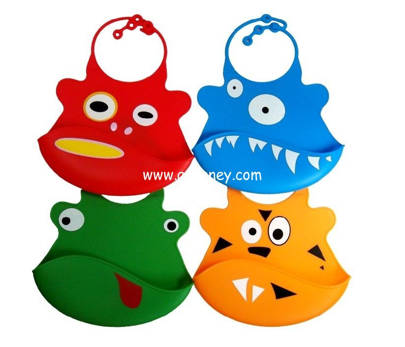 Wholesale Baby Bib and Toddler Bib Washable Silicone Bib