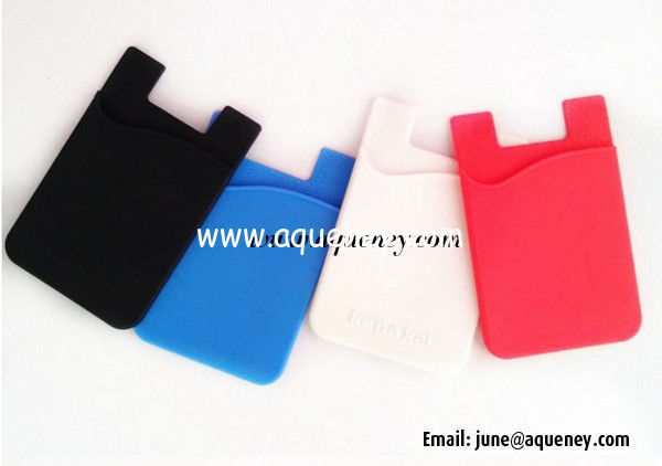 2014 Factory Produce Mobile Phone Silicone Smart Wallet, silicone card holder wallet