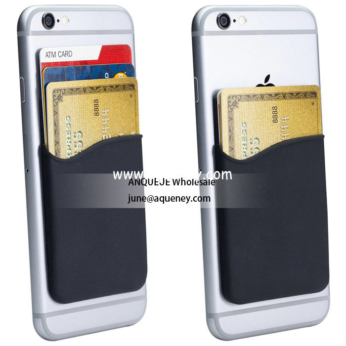 Unit price only $0.3 Silicone Wallet with 3m Adhesive Sticks factory price