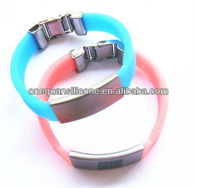 Hot Sale fasionable Silicone Bracelet,silicone band with Metal Clip
