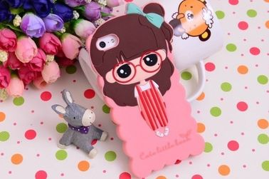 High quality stylish girl design silicon soft case for smart phone