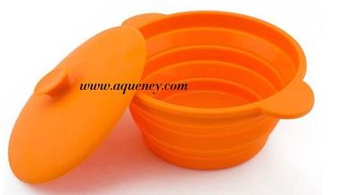 Colorful silicone bowl with lid / foldable bowl / Plastic bowl