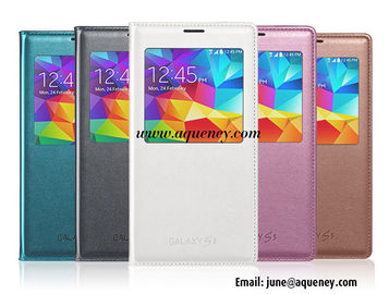 China Supplier Wholesale leather case for Samsung Galaxy S5 I9600