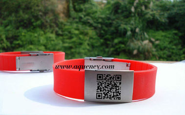 China Wholesale Medical ID Bracelet, Sport ID Bracelets,Cheap color QR Code ID Bracelet factory
