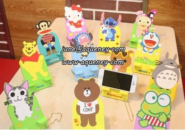 China 12 different design Cartoon Phone stand for mobile phone, for Ipad factory