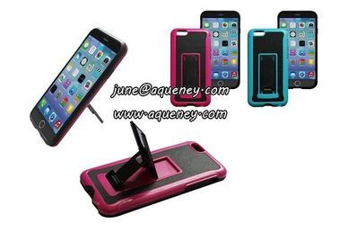 Hot Iphone6 mobile phone case with holder, mobile phone case cover with phone stand