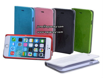 The most popular learther case for Iphone6, Iphone 6 mobile phone case with card holder