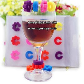 China Promotional gift silicone wine glass mark for Christmas decoration factory