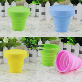 China Promotion gift Collapsible Silicone Water Bottle Silicone Folding Cup factory