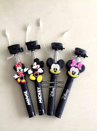 3D Cartoon Extendable Handheld Selfie Stick Monopod with Silicone Handle