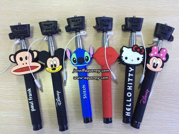 Wholesale Cartoon Wired Selfie Stick Monopod, without bluetooth design