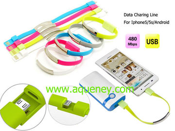 High Quality Wristband Micro USB Data Cable with 5 colors can be choosed