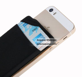 NEW mini pocket wallet sticky 3M Lycra Smart Wallet with factory price,Size 88*57*3MM black color
