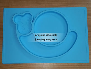 Custom Color silicone plate for kids, factory price with FDA.CE,ROHS