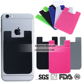 China Buy hot selling mobile phone accessories colorful silicone smart wallet with logo print factory