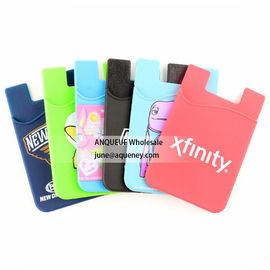 China 2020 Silicone Phone Wallet Smart Mobile Pocket with your custom imprint factory