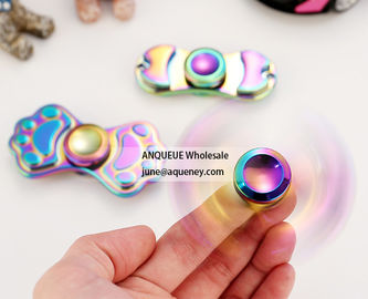 China Colorful zinc alloy metal hand spinner toys fidget spinner,low price, accept OEM factory