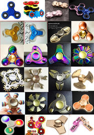 China Fast delivery colorful ABS Plastic Tri Spinner EDC Fidget Hand Spinner Toy factory