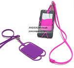 Promotional Silicone Lanyard Smart Wallet,Silicone phone case with business card holder