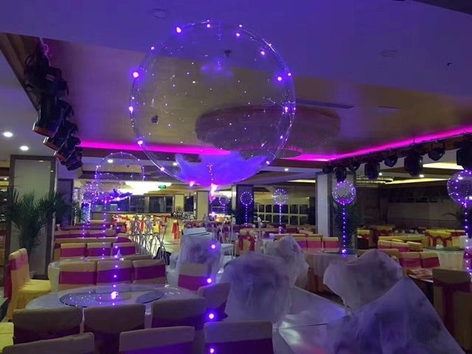 Hot sell party decoration bobo balloon light halloween wedding led light up balloons